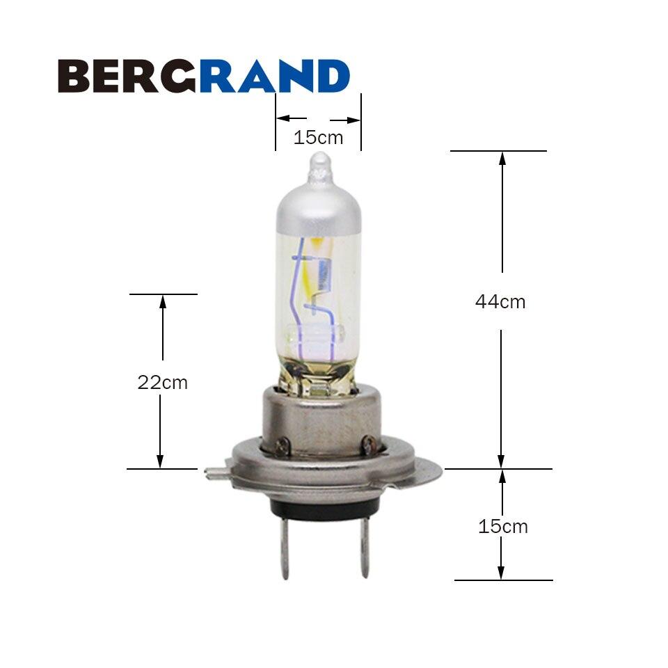 Купить с кэшбэком H7 Halogen Lamp 12V 55W 2900K Rainbow Golden PX26d Head Lamp Fog Lights Germany Hard Glass Headlight Bulb For Audi Mini 1PAIR