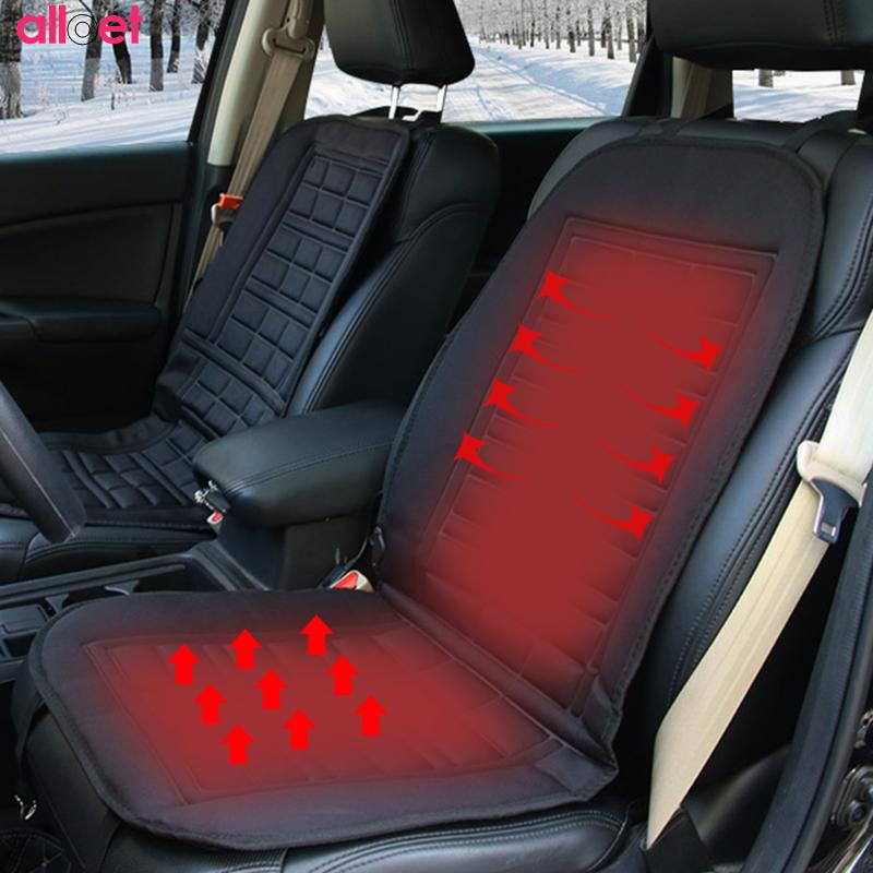 12V Cigarette Lighter Electric Heated Car Seat Cushion Winter Car Single Seat Pad Seat Covers Universal Conjoined Supplies