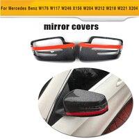 Carbon Fiber Car Side Mirror Cover for Mercedes Benz W176 W246 W204 W117 W218 W212 W207 X156 X204 W221
