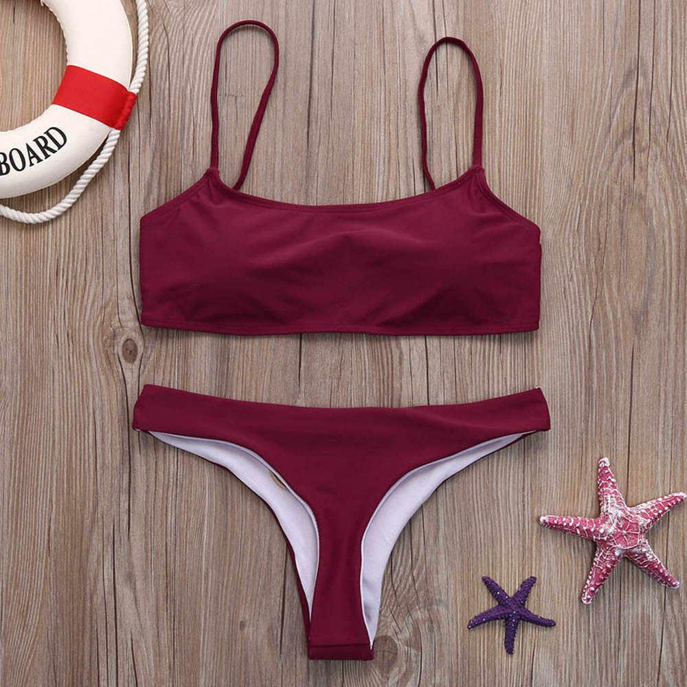 人気固体ためのセクシーな水着高品質ツーピース水着ホット販売ファッション水着ビキニセットプラスサイズ 2 #5 #