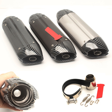 Motorcycle Exhaust Muffler Pipe Modified 38/51mm Tail Aluminum System for Z800 GSX-R750 ZX-6R ZX-10R 250NK