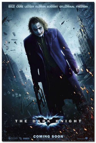JOKER Batman The Dark Knight DC Superhero Movie Silk Poster 12x18 inch
