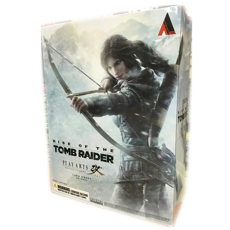 The Game Tomb Raider PVC action figure Lara Boy toy Anime figure Retail box Laura Collection Doll 27 cm цена