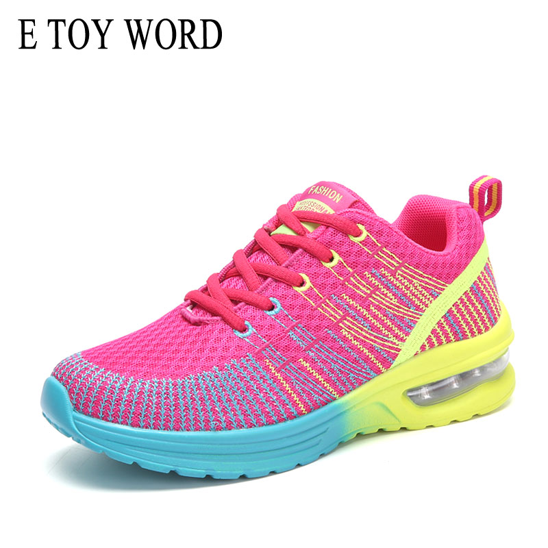 E TOY WORD Women Shoes Mesh Breathable Fashion Casual Shoes Jogging Shoes 2019 New Autumn Air Cushion Women 39 s Sports Shoes in Women 39 s Vulcanize Shoes from Shoes