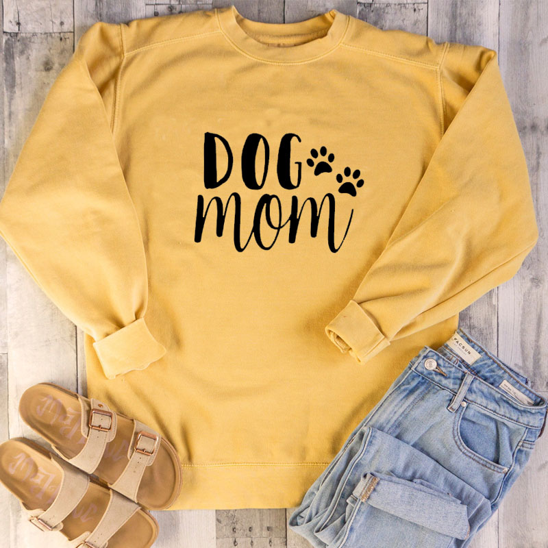 Dog-Mom-Women-s-Plus-Velvet-Fashionable-Long-Sleeve-Casual-Sweatshirt-Printing-Dog-Love-Kawaii-Sweatshirt