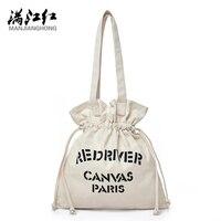 Manjianghong 2017 New Canvas Totes Bag Casual Shopping Bag Fashion Popular Design Women Handbag England Bag
