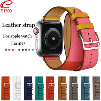 Genuine leather watch strap band for hermes apple watch 42mm/38mm bracelet Leather watchband hermes watch accessories strap