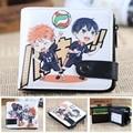 Anime Haikyuu!! Chibi Syouyou & Kageyama Tobio Hinata Curto PU de Zero Carteira/Bolsa Da Moeda/Multilayer Duplo-botão Carteira