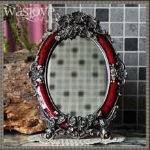 Европейское античное зеркало косметическое для туалетного столика