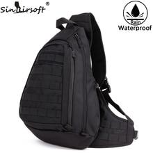 Sinairsoft 전술 스포츠 가방 낚시 캠핑 장비 야외 나일론 와이드 가슴 팩 가방 슬링 싱글 숄더 가방 남성 유니섹스