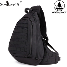 SINAIRSOFT Military Backpack 14 Inches Loptop Tactical Backpacks Sports Camping Outdoor Wading Chest Pack Sling Single Shoulder