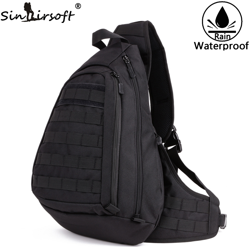 SINAIRSOFT Military Rucksack 14 zoll Loptop Taktische Rucksäcke Sport Camping Outdoor Waten Brusttasche Sling Einzelner Schulter