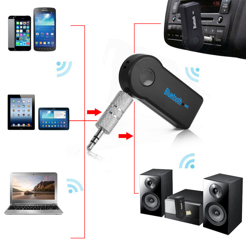 Handfree Car Bluetooth Music Receiver Universal 3 5mm Streaming A2DP Wireless Auto AUX Audio Adapter With
