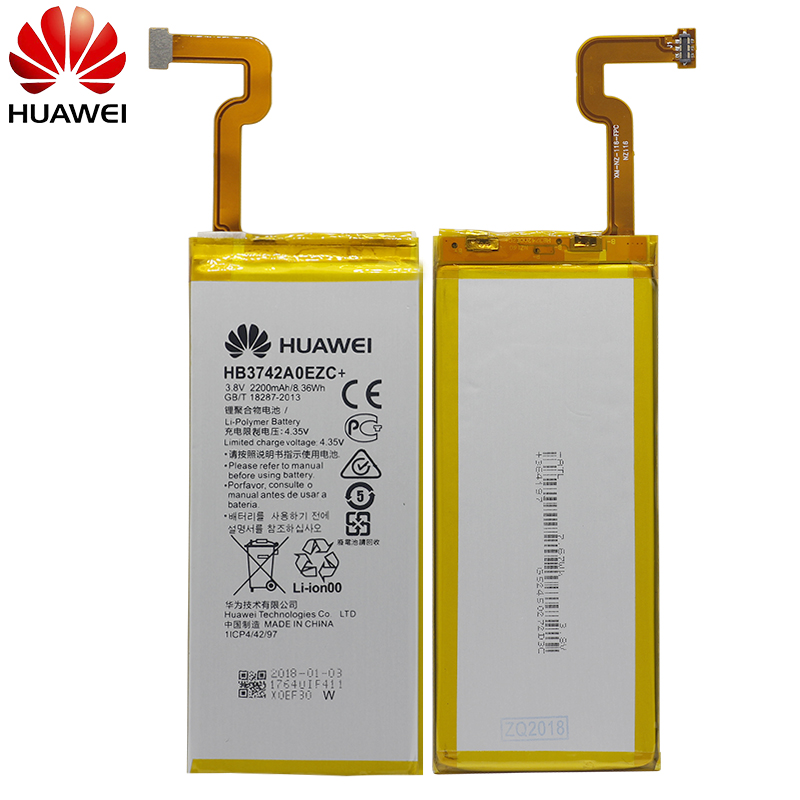 Hua Wei Original Phone Battery HB3742A0EZC+ Real 2200mah For Huawei Ascend P8 Lite Replacement Batteries Free Tools