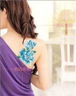 Free shipping (mix order)many designs skins flower Temporary tattoo Waterproof body tattoo stickers body art Painting