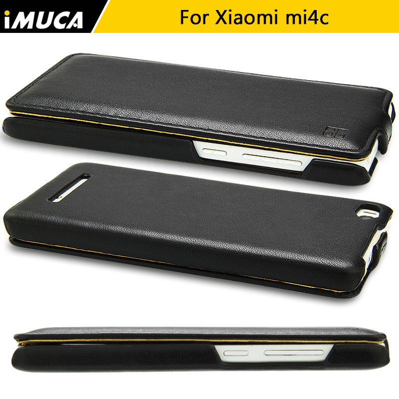 Xiaomi mi4c case case flip cubierta de cuero para xiaomi mi 4c mi4i m4i teléfono