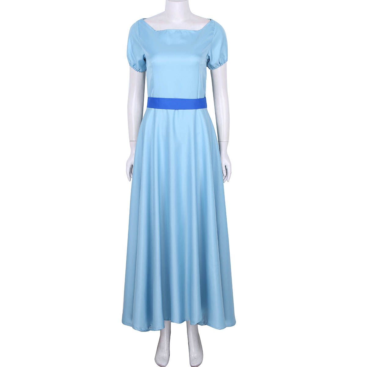 Image 5 - Women Halloween Cosplay Costume Wendy Dress Boat Neck Short Puff Sleeves Princess Party Fancy Maxi Dress with Headwear and Belt-in Movie & TV costumes from Novelty & Special Use