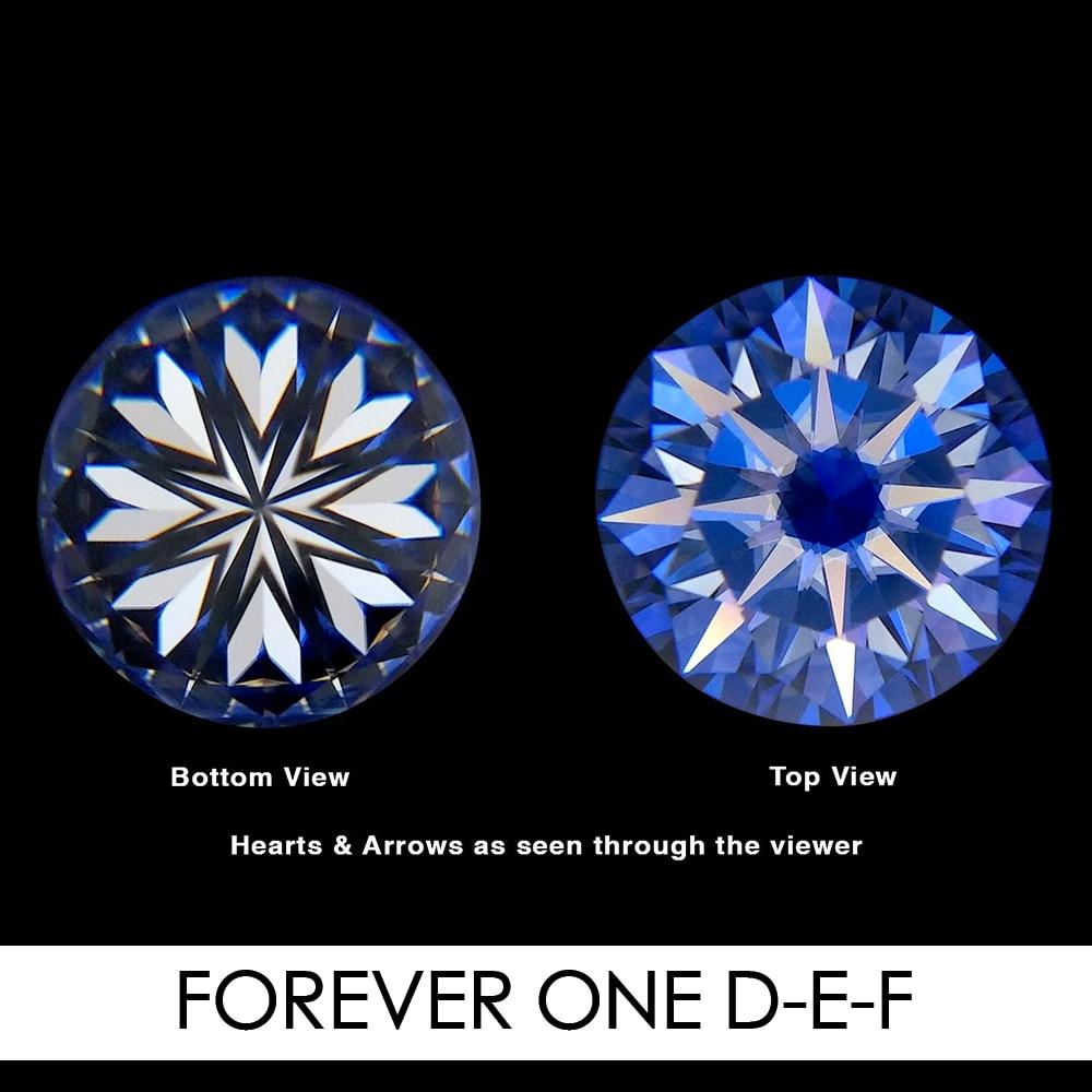 8.5mm 2.2 CARAT 58 facettes coeur et flèches Moissanites pierres précieuses en vrac G-H-I couleur Charles & Colvard USA créé Moissanites réel