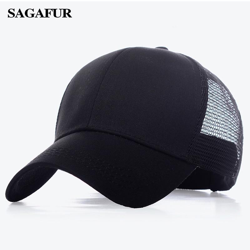 Mesh Hats Caps Baseball-Cap Polo-Style Men Snapback Classic Sport Unisex Fashion Women
