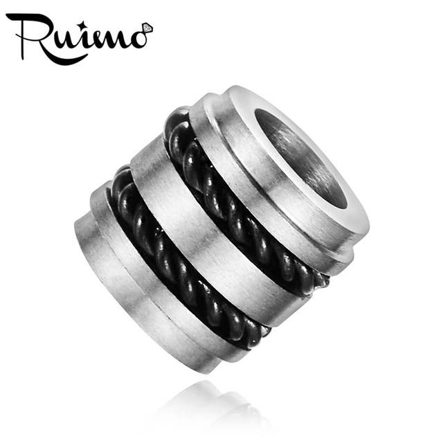RUIMO 316L Stainless Steel High Polished Plating Beads Steel Wire ...