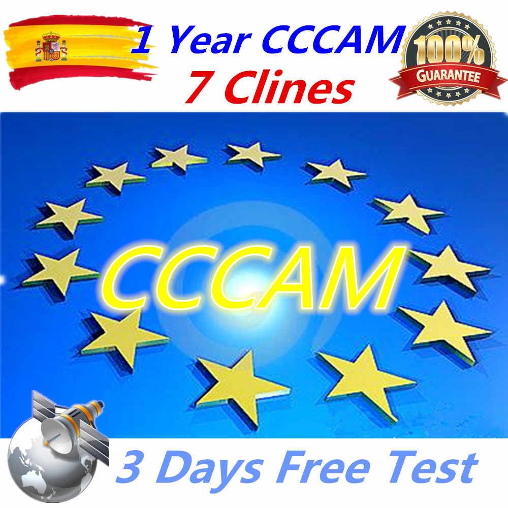 Europe 7 линий Cccam для детей в возрасте от 1 года Европы Испания/Германия для V8 супер, V7 HD, V7S, IPS2, Икс спутниковый ресивер cccam линии приемник