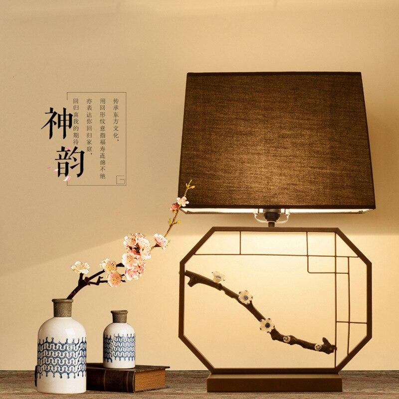 Туда 38x62 см Бесплатная доставка китайский Стиль Настольная лампа для Спальня прикроватной тумбочке Гостиная исследование настольная лампа...