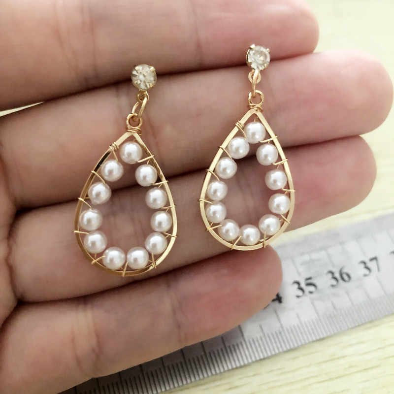 2019 New Water Drop CZ Jewelry Sets gold Necklace&Earrings Wedding Jewelry For Women Wedding Party Sets