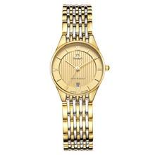 Nuodun Женщины Fashion Бизнес Наручные Часы Водонепроницаемый Нержавеющей Стали Дамы Кварцевые Часы Аналоговые Кварцевые часы Relojes Mujer