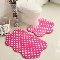 New Qualified 50*60+50*80cm U Shape Bath Mats In The Toilet Bathroom Mat Rug Anti Slip Home Bathroom Decor Carpets 5 Colors
