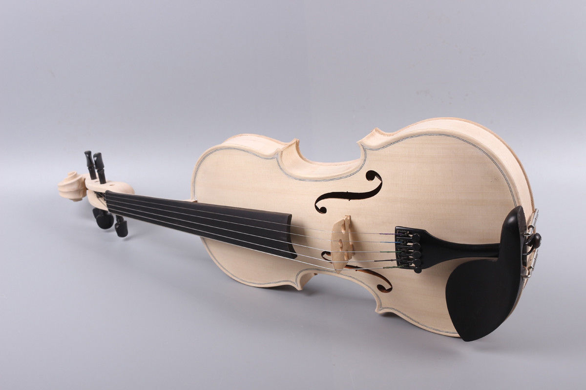 Yinfente 5 String Violin 4/4 Unfinished Violin Ebony Fittings Flame Maple Spruce Wood Free Case Bow 2 pcs new 4 4 unfinished violin flame maple back russian spruce top