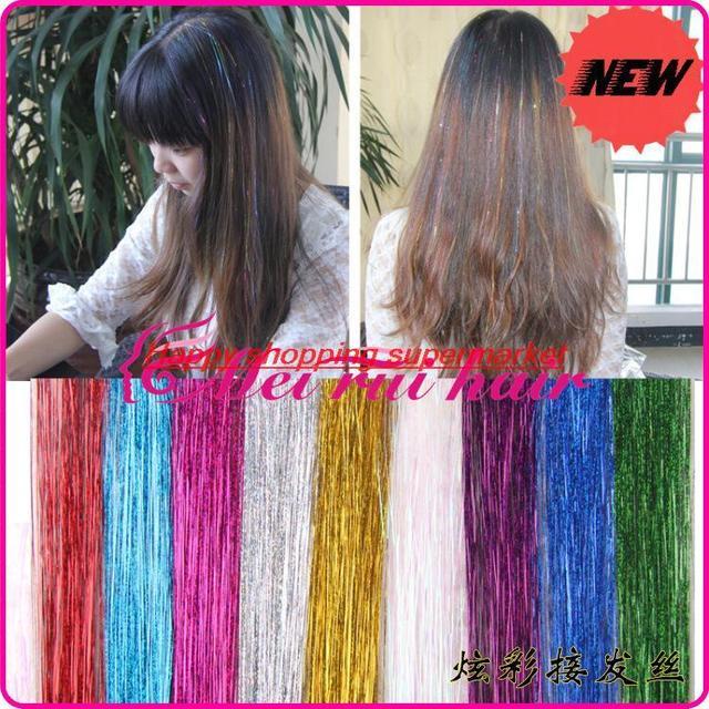90 Cm Bright Colorful Glitter Metallic Silk Silk Color Laser Flashes