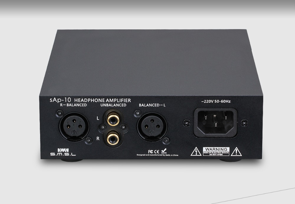 SMSL sAp-10 Balance Desktop Headphone AMP HIFI Audio High Power Amplifier 2*TPA6120A2 Chip RCA/XLR input 6.35mm/Balanced Output