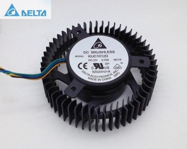 Delta KUC1012D fan 12V 0.75A HD4770 graphic card cooling blower вешала hotata d 1011 d 1012