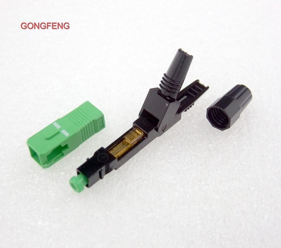 100pcs Optical Fiber Fast Connector SC//APC Optical Fiber cable Quick Connector
