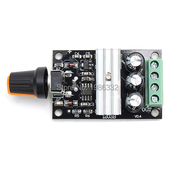 Ws16 9v 12v 24v 48v 60v 20a Adjustable Motor Speed Controller Regulator Driver Pwm 25khz Stepless Variable Control Switch 9v-60v Home Improvement Motors & Parts