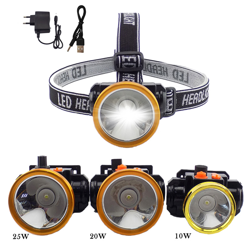 цена на Build-in Battery Headlamp LED Powerful Frontale Headlight Torch Rechargeable Flashlight Lamp Headtorch Lanterna Fishing Camping