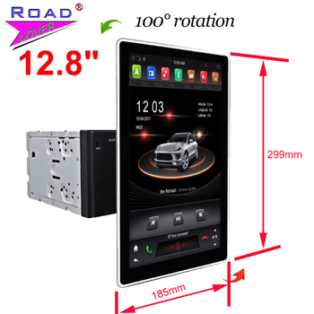 IPS Tesla Vertical Screen 12.8 Car Radio Moveable Autoradio For VW Ford Honda Hyundai Toyota Kia 2 Din GPS Navigation Head Unit image