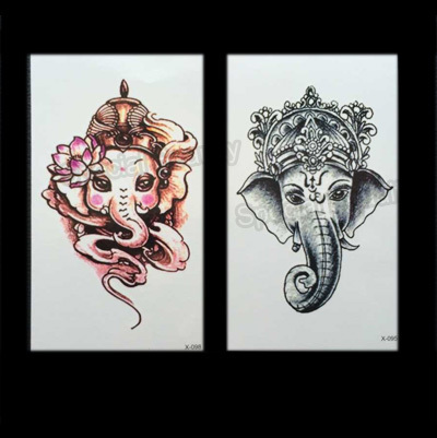 2015 new elephant couple tattoo body art paint for women flash