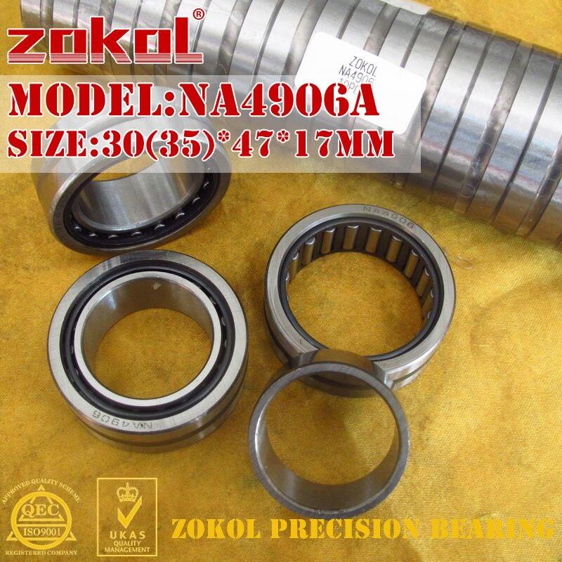 ZOKOL NA4906 A Bearing NA4906A Entity Ferrule Needle Roller Bearing 30*47*17mm RNA4906A 35*47*17mm