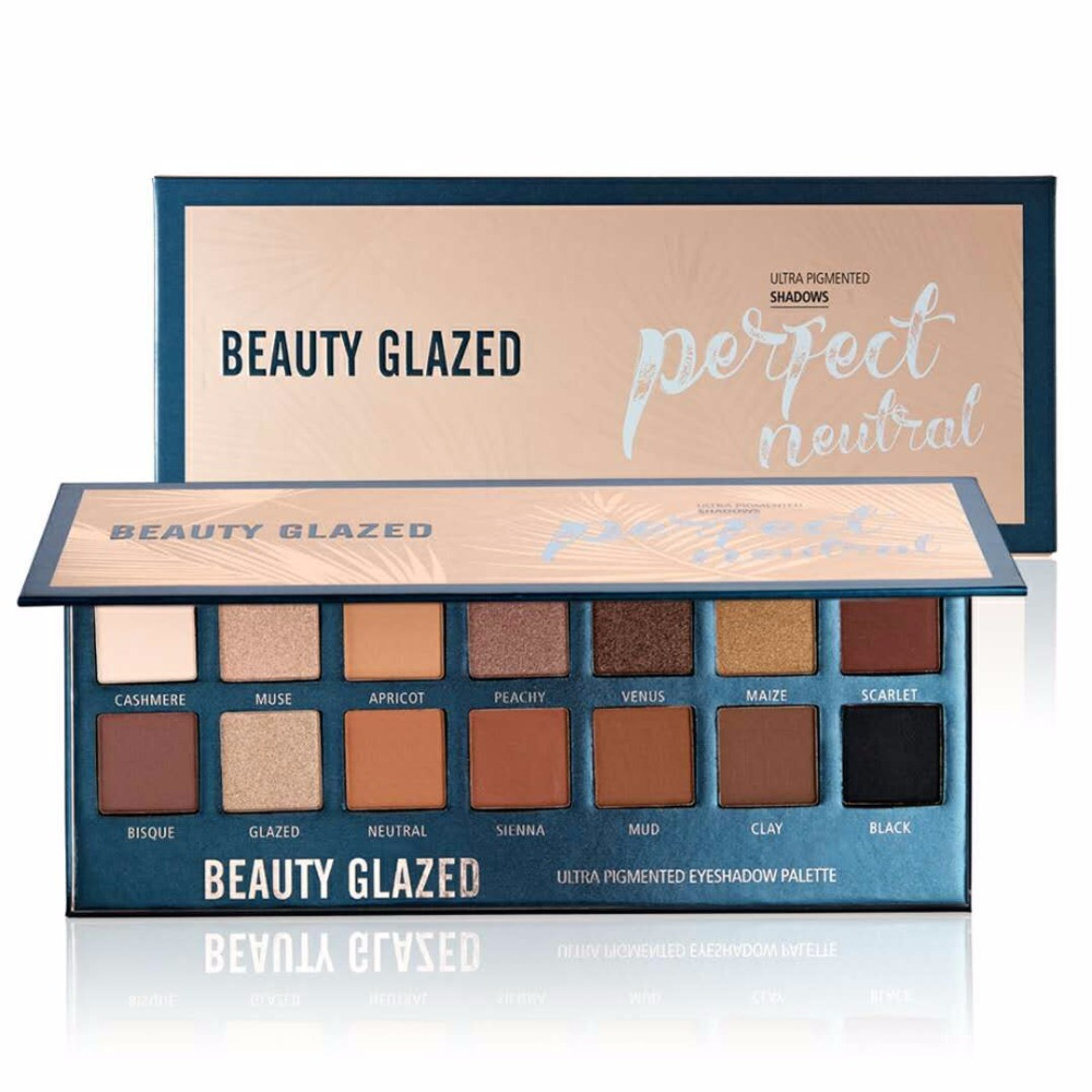 BEAUTY GLAZED Makeup Eyeshadow Palette Glitterinjections 14 color Glitter Matte Pressed Warm Natural Eye Shadow Powder Pigmented 144 colors matte eyeshadow palette earth color eye shadow pressed powder natural face blush blusher palette eyebrow powder kits