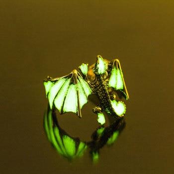 Men's Dragon Luminous Glow In Dark Rings
