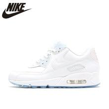 hot sale online d3244 d84aa Nike Air Max 90 Premium chaussures de course pour femmes, blanc, résistant  à l abrasion antidérapant imperméable respirant 44381.
