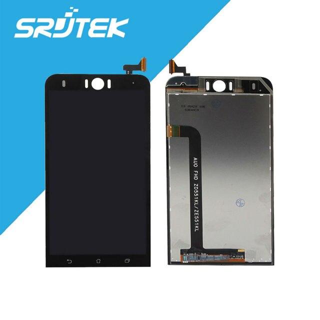 """Para asus zd551kl ze551kl display lcd + montagem da tela de toque 100% original zenfone selfie fhd 5.5 """"substituição preto"""