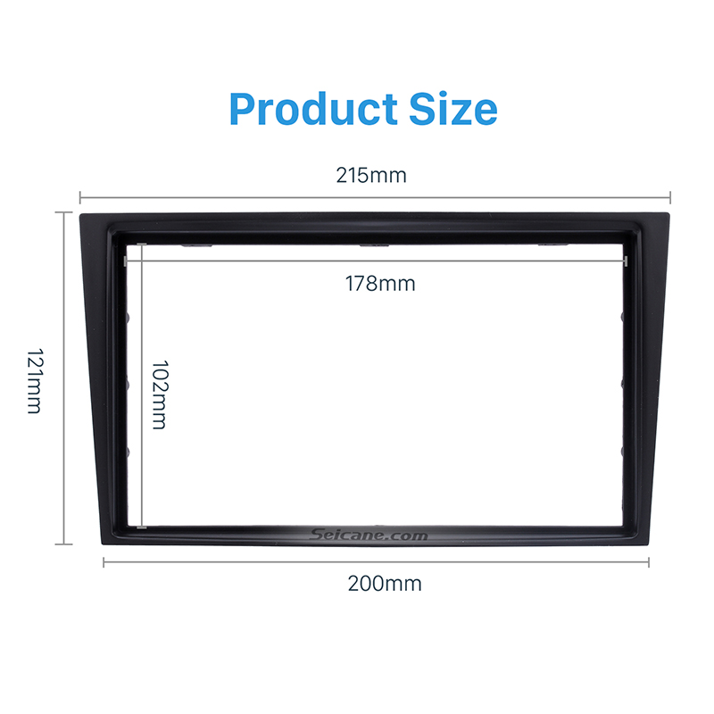 Image 2 - Seicane 2 Din Car Radio Fascia Trim Kit for 2006+ Opel Vectra Astra Zafira Stereo Dash CD Frame Panel Audio Cover Fitting Kit-in Fascias from Automobiles & Motorcycles