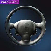 Car Braid On The Steering Wheel Cover for Hyundai Santa Fe 2001 2002 2003 2004 2005 2006 Old Hyundai Santa Auto Interior Covers santa fe junior
