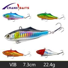 CRANK BAITS 1Pcs Winter Fishing Lures 7.3cm 22.4g Plastic VIB Hard Bait Lead Inside Vibration Tackle Wobbler Lure YB243