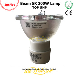 Litewinsune 1 pc darmowa wysłać 5R 200 W etapie lampa oświetleniowa źródło żarówki wiązki 5R z ruchomą głową światła