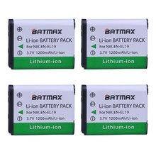 Аккумуляторные батарейки для камеры Nikon S2500 S2600 S2700 S3100 S3200 S3300 S3500 S4100 S4150 S6500, 4 шт.