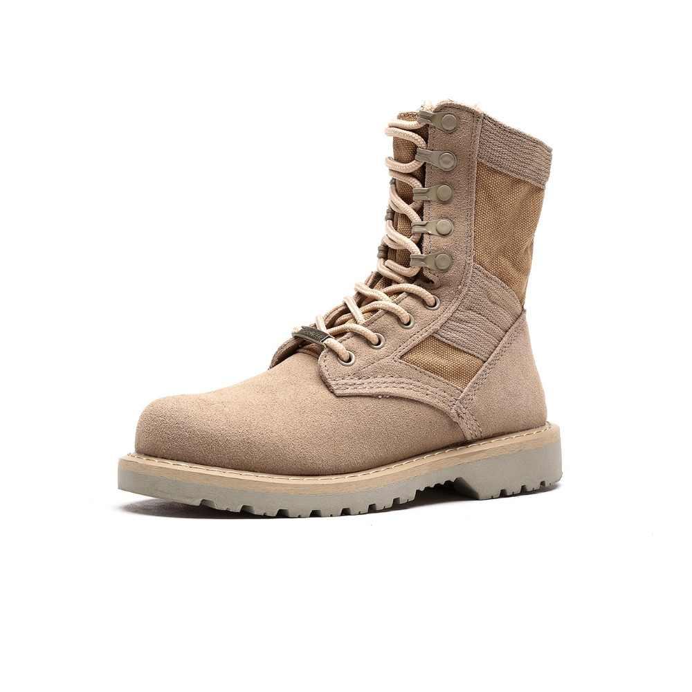 Botas militares palladio masculinas, botas de couro confortáveis com estilo de lona, casual, cano alto, tamanho 2018 39-48