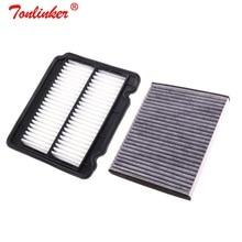 Kabin filtresi + hava filtresi 1 adet Set Chevrolet Aveo T250 T200/Kalos 1.2L 1.4L 1.5L Model 2005 2006 2007 2008 2019 araba filtresi